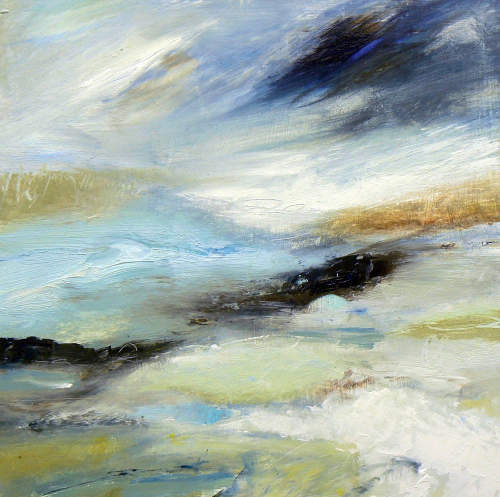 Air , 30 x 30cm,  acrylic on wood panel, (sold)
