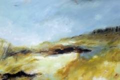 Bracken and Water, 100 x 100cm,  acrylic on canvas