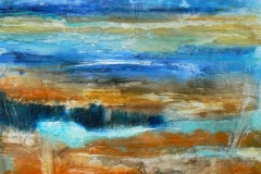 Land and Water, 30 x 30cm, acrylic on wood panel