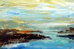 Northern-Lake, 30 x 30cm, acrylic on wood panel