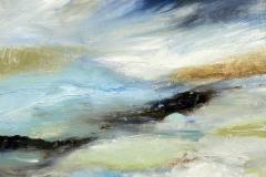 Air , 30 x 30cm,  acrylic on wood panel, (sold)