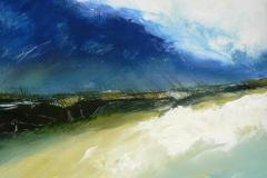 Weathered Beach, 30 x 30cm, acrylic on wood panel, (sold)